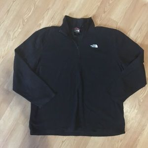 The North Face Black 1/4 zip sweater XXL
